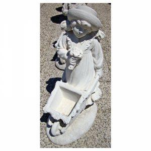 Statue bimbi con carriola